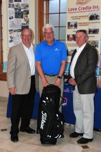 Gary Brown receives award from Dr. Jack Parry and Steve Yagilnicky