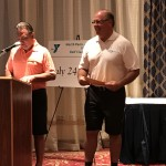 Dr Parry presenting awards with YMCA CEO Bob Gallagher